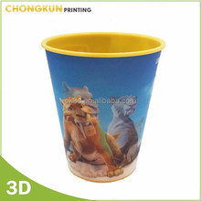eco-friendly plastic mug cup animation 3d promotional cups