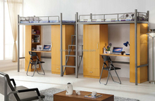 student bunk bed with desk