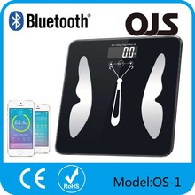 China supplier app fasion new design body fat scale bluetooth weighing scale