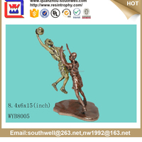 Unique basketball player polyresin trophy