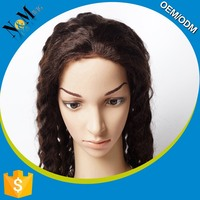 Hot selling wig making supplies 7a full lace wig deep wave brazilian