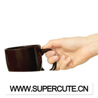 OEM custom coffee mug interesting in sinking design