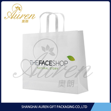 white back duplex board paper handbags for shopping