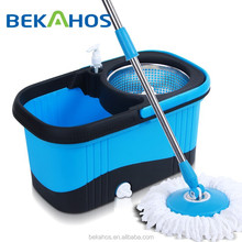 square blue mop bucket easy clean mop with washing bottle