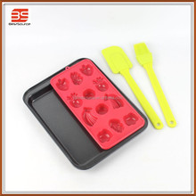 Non-stick Carbon Steel baking pan with tools with silicone mould set