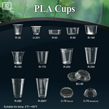 T-PLA1-P yogurt jelly coffee ice cream gelato dessert sauce 1oz 2oz 3oz 4oz 5oz 6oz 7oz 8oz 9oz biodegradable plastic cup