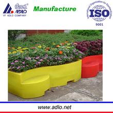 Vasos de flores quadrado / grande jardim plantadores barato imagem / plástico vasos de flores plantadores / ao ar livre jardim decorativo