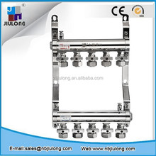 C Type Third Generation brass manifold for underfloor heating system with Double Ball Valves for underfloor heating manifold