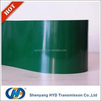 Fastener Splice endless green pvc Conveyor Belt