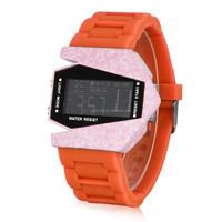 Fighter Plane Dazzle Colour alarm LED Silicone fashion digital wrist watch