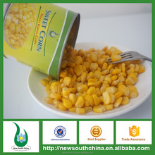 Natural flavor ready to cook canned sweet corn kernel
