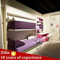High quality modern design horizontal folding bunk wall bed