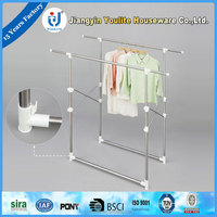 extendable steel vertical clothes hanger rack