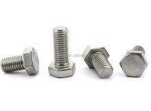 DIN933 Stainless Steel Hex bolts Full threaded/hex bolts and nut 304 stainless steel or white zinc