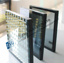 24mm 6+12A+6 tinted lowe tempered double glaze insulated glass exterior building glass walls
