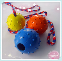high quality natural rubber dog pet toy rubber dog treat ball