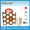 2015 reused cheap handy PP laminated woven tote shopping bag