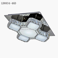 LD8834-46D led roof light, metal pendant lamp, crystal ceiling lighting fixture