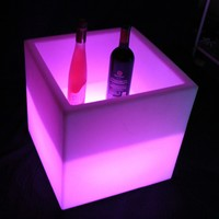 Rechargeable Decorated LED Ice Cube light chair In home ,bar,garden for christmas / led bar ice bucket / Bar Furniture Free ship