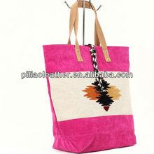 2013 new arrivered designer corduroy lady handbags bag