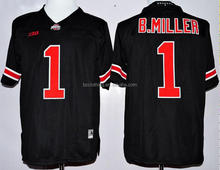 Ohio State Buckeyes #1 B.Miller 2015 Black National College American Football Jersey