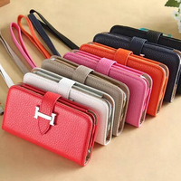 Luxury Hand Bag Clutch Bag Leather Case Cover For Apple iPhone 6, Phone Pouch Case For iPhone 6