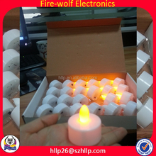 2015 Factory Price Promotion Gifts Most Fashion Wholesale Chistmas Decoration Favor LED Plastic Tealight Candle