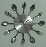 modern kitchen designs decorative kitchen clock with knife and fork