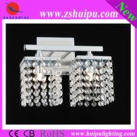 Top sell Modern K9 crystal wall lamp 2 lights G9 lampholder