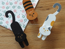 Popular Scrapbooking and Stationery Cat Shape Wooden Clip