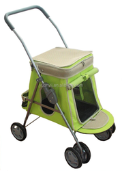 Pet travel trolley/foldable pet stroller and jogger/dog stroller small dogs 4 wheels