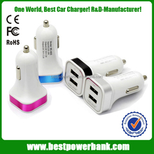 HC-C04 aluminum rim car charger 2.1A dual usb port in car charger