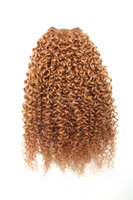 Jerry curl african black girl human hair weave extensions