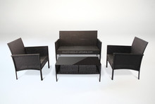 SLIM LINE PE Rattan Sofa Set 4P Set steel K/D Outdoor Waterproof CE approval
