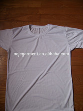 160 grams 100% organic cotton white t shirt for men made in China