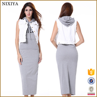 ODM Casual Rayon Lycra Cotton Long Shirt Women Dress