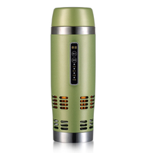 China coffee pot 2014 newest 304 stainless steel patent heating and cooling car mug/Heanting water, coffee mug/promotion mug