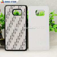 2d heat sublimation phone case for samsung S5 Edege PC with Metal Sheet 2d mobile covers