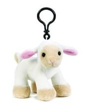 custom plush lamb keychain , soft keychain plush lamb