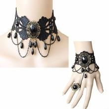 SL-025 Yiwu Caddy rococo Vintage Slave Bracelet ring handmade lace bracelet,new arrival Necklaces Retro style Gothic style,wedd