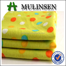 2015 Mulinsen textile dot pattern fabric for children clothes, poly spun fabric art&design