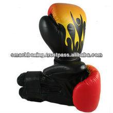 amarelo e vermelho cor de couro genuíno ou artificial chamas luvas