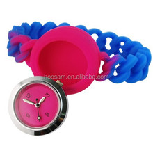 Hot selling New Hemp Flowers Silicone Watch, Pantone Colors Available, 1 and 3ATM Water-resistant