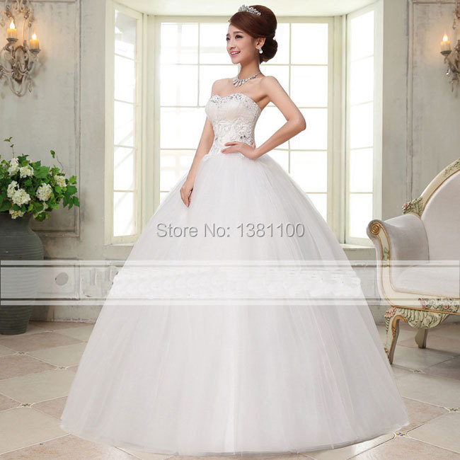 Strapless Heart Shaped Wedding Dresses