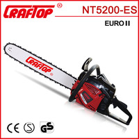 2.0kw CE EUROII certified 52cc gas chainsaw with good chainsaw price
