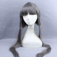 wholesale grey cosplay/party/holiday wig with full bangs