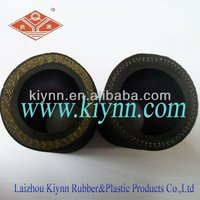 """3/8"""" x 25' Black Rubber All Weather Air Hose"""