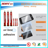 High Quality UV LOCA adhesive for iphone 4/5 S3/S4 samsung note 2 glaxy touch screen