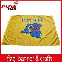 custom 100% polyester farbic printed red orange yellow flag