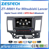 High quality car multimedia system for Mitsubishi Lancer touch screen car radio with BT phonebook SWC